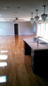 wood floor kitchen design