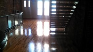 shiny wood floor