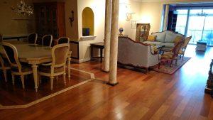 Living Room with Custom Hardwood Floors