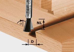 Dovetail cutter with pre-cutter