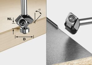 Turning plate chamfer cutter HW