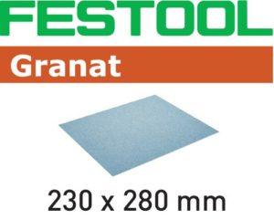 Hand abrasive Granat sandpaper 9-1