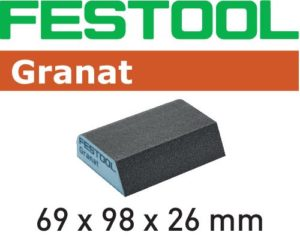 Hand abrasive Granat abrasive sponge 2-3